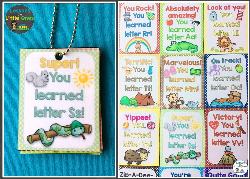 How I Motivated Students to Learn Their Alphabet Letters with Brag Tags / Rewards & Books